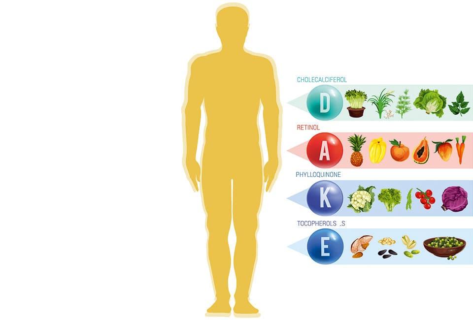 Auflistung vitaminreiche Lebensmittel