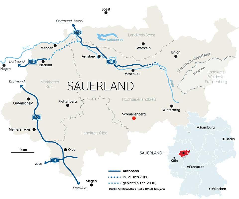 Sauerland Karte