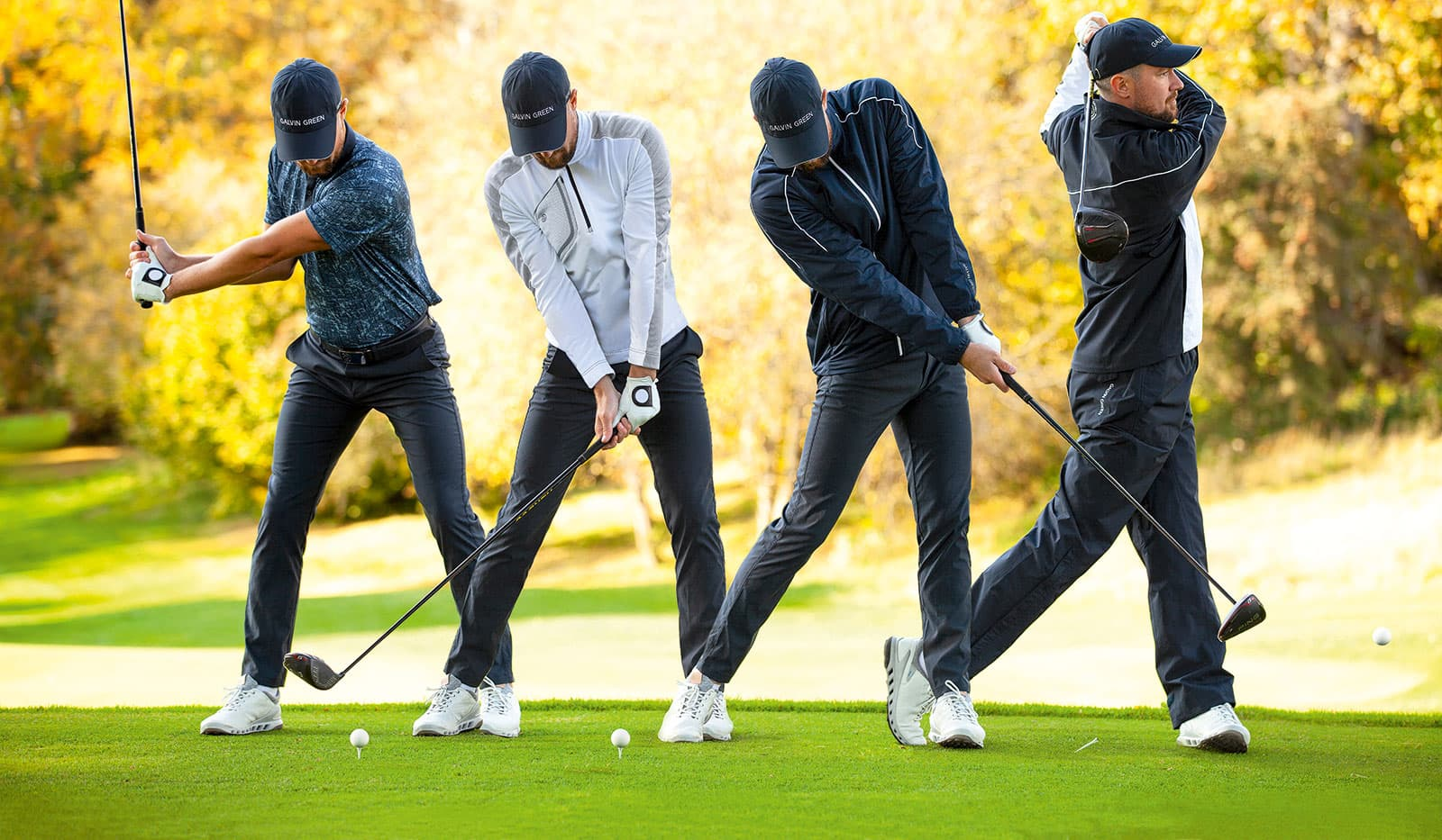 Golfabschlag Step by Step