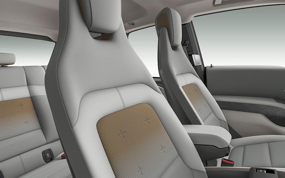 Hochwertiges Interieur aus teilweise recycelten Materialien BMW i3