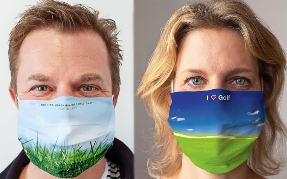 Gesichtsmaske Golfmotiv