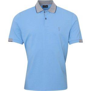 Golfino Poloshirt Splash Sun Protection kurzarm hellblau