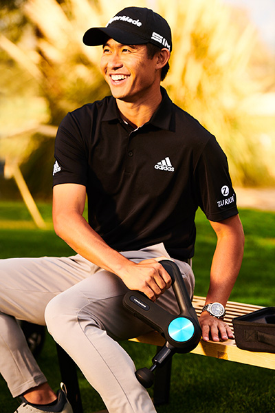 PGA Championship Collin Morikawa Theragun