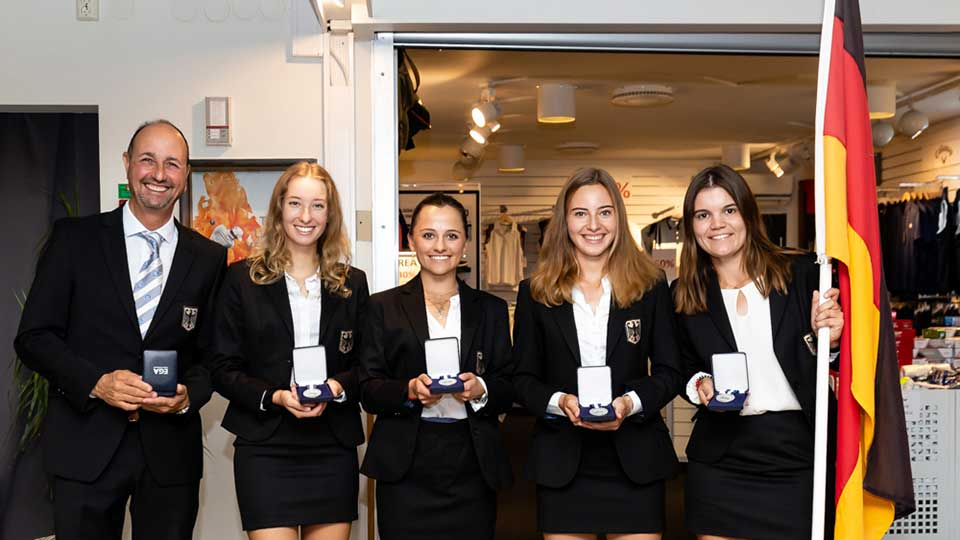 20 09 14 Damen Golf Team Germany Silber tiess - Europameister! Golf Team Germany gewinnt bei der Team-EM