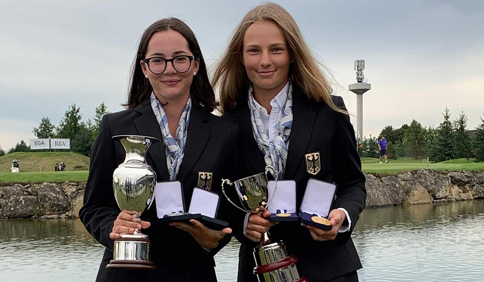 Charlotte Back und Emilie von Finckenstein sorgten bei der EYM für einen Doppelsieg bei den Mädchen.