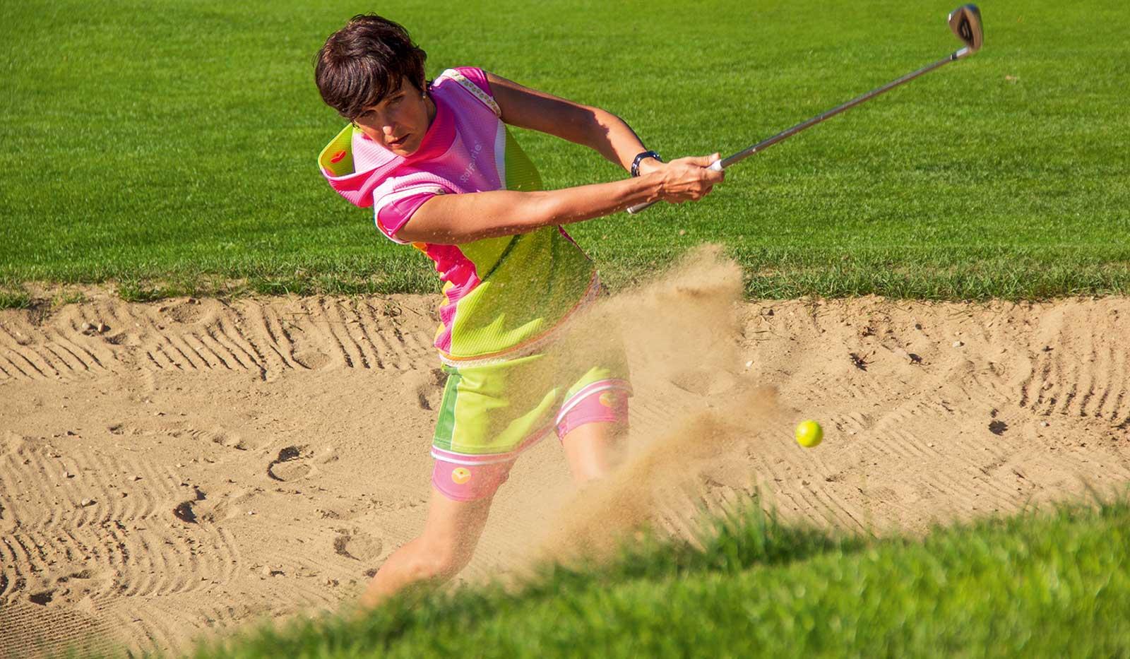 Bunkerabschlag Golf
