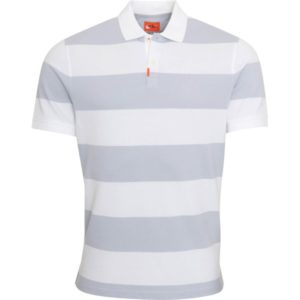 Nike Golf Poloshirt The Nike Stripe kurzarm grauweiß