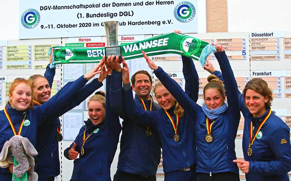 Die Deutschen Mannschaftsmeister 2020 der Damen: Das Team vom GLC Berlin-Wannsee