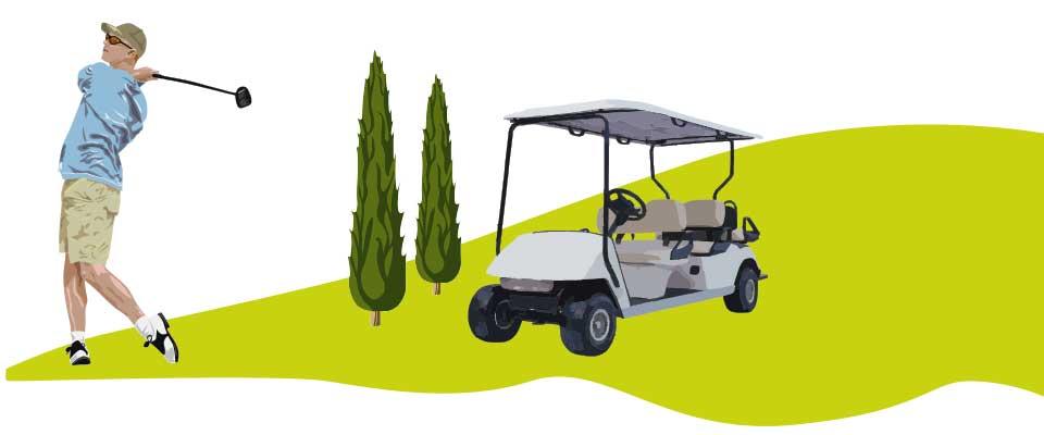 Grafik Golfer