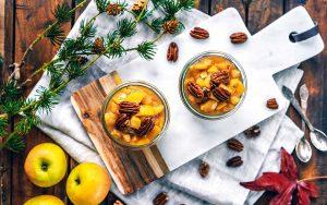 Chia Pudding mit Apfelkompott