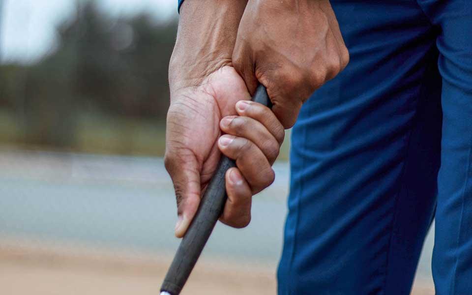 Griff Golfschläger, Hände