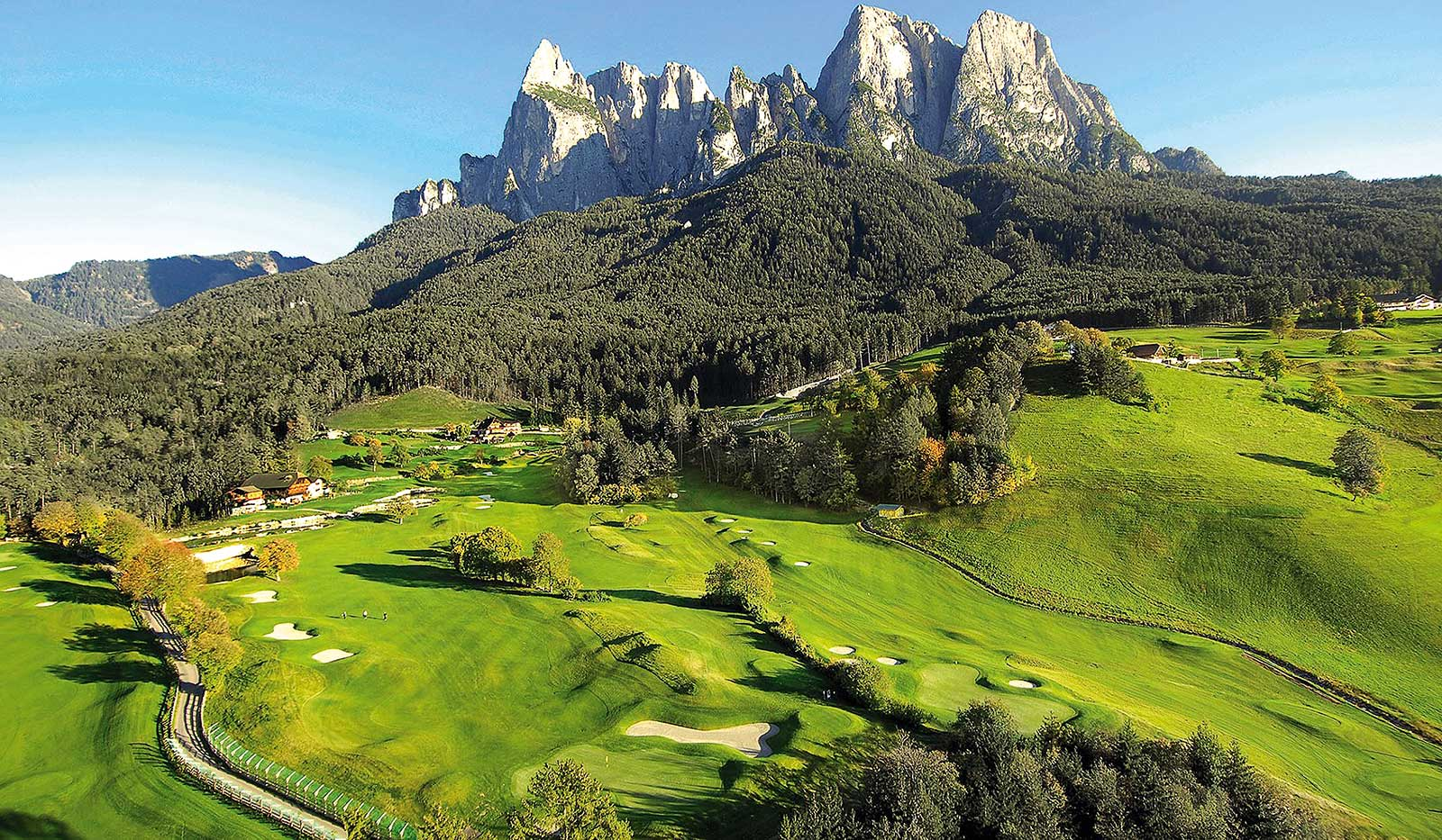St Vigil Seis Bergpanorama Golfplatz
