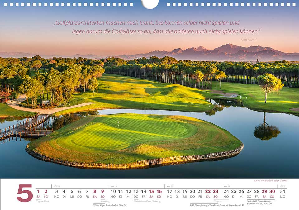 Golf Kalender Zitate 2021