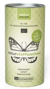 Tee Gschwendner Nr. 1105 NATURstoffwechsel Aktivierend-scharfe Komposition mit Grünem Tee, Matcha, Chili und Ingwer. 120-g-Dose € 9,80