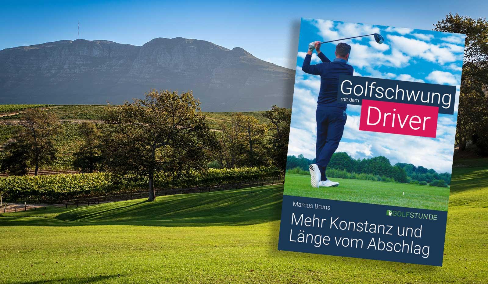 """Golfplatz und Buchcover """" Golfschwung mit dem Driver"""""""