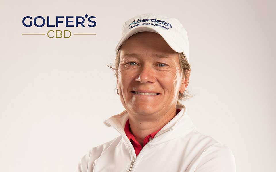 Golfer's CBD Markenbotschafterin Catriona Matthew