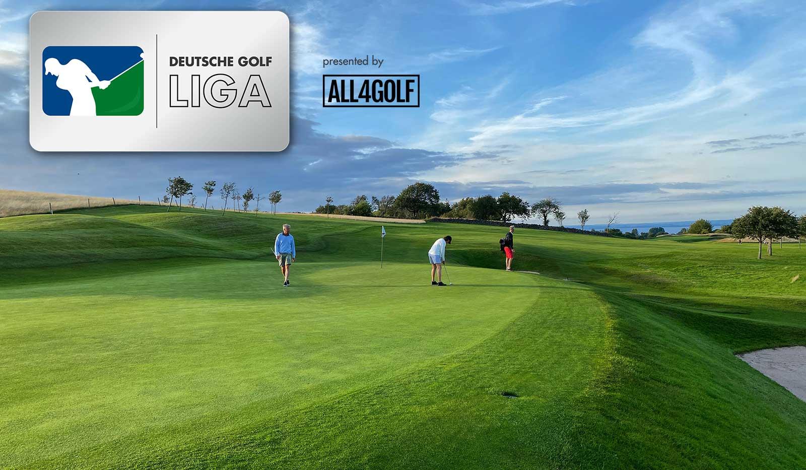 Golfplatz, DGL und All4Golf Logo