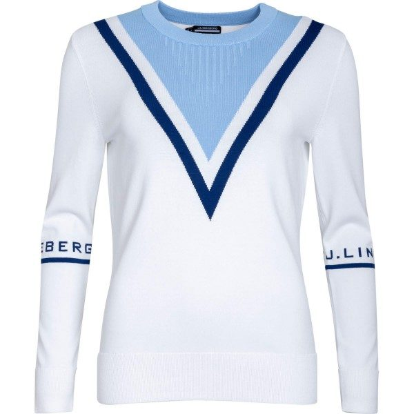 J. LINDEBERG Pullover Stina langarm weiß