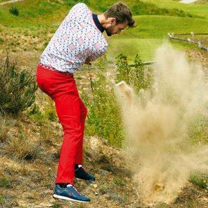 Golfino Herren-Golfhose rot