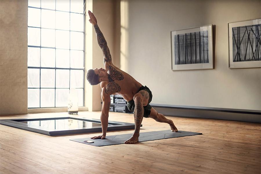 Yoga App Mann Arme