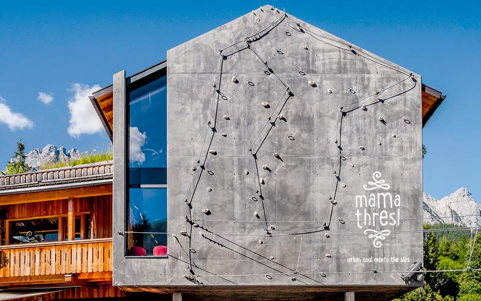Kletterwand mama thresl - mama thresl – Urban Soul meets the Alps