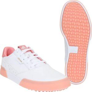 adidas Golfschuhe Adicross Retro weißrosa