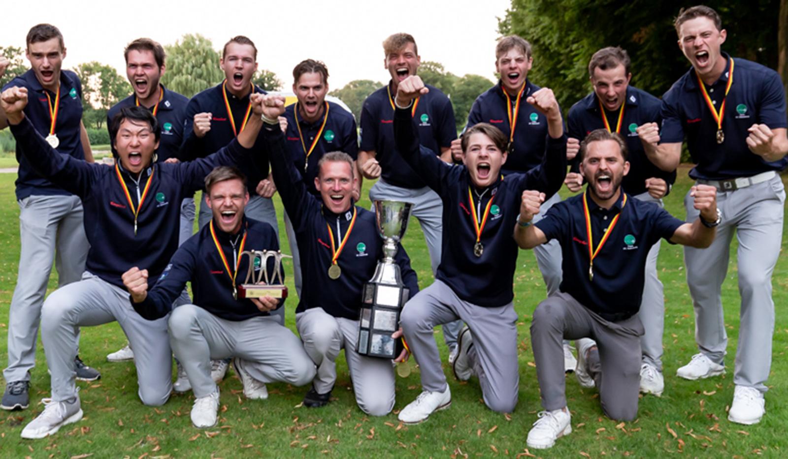 TeamHubbelrath byTiess - Deutsche Golf Liga 2021 – GC Hubbelrath wird Mannschaftsmeister der Herren