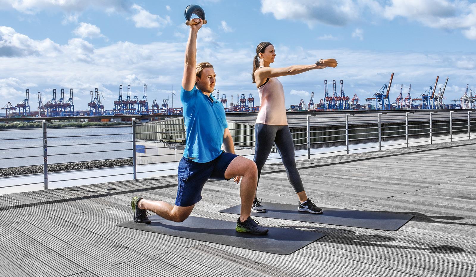 ausfallschritt - Train @ Home in Kooperation mit MONARCK Fitness